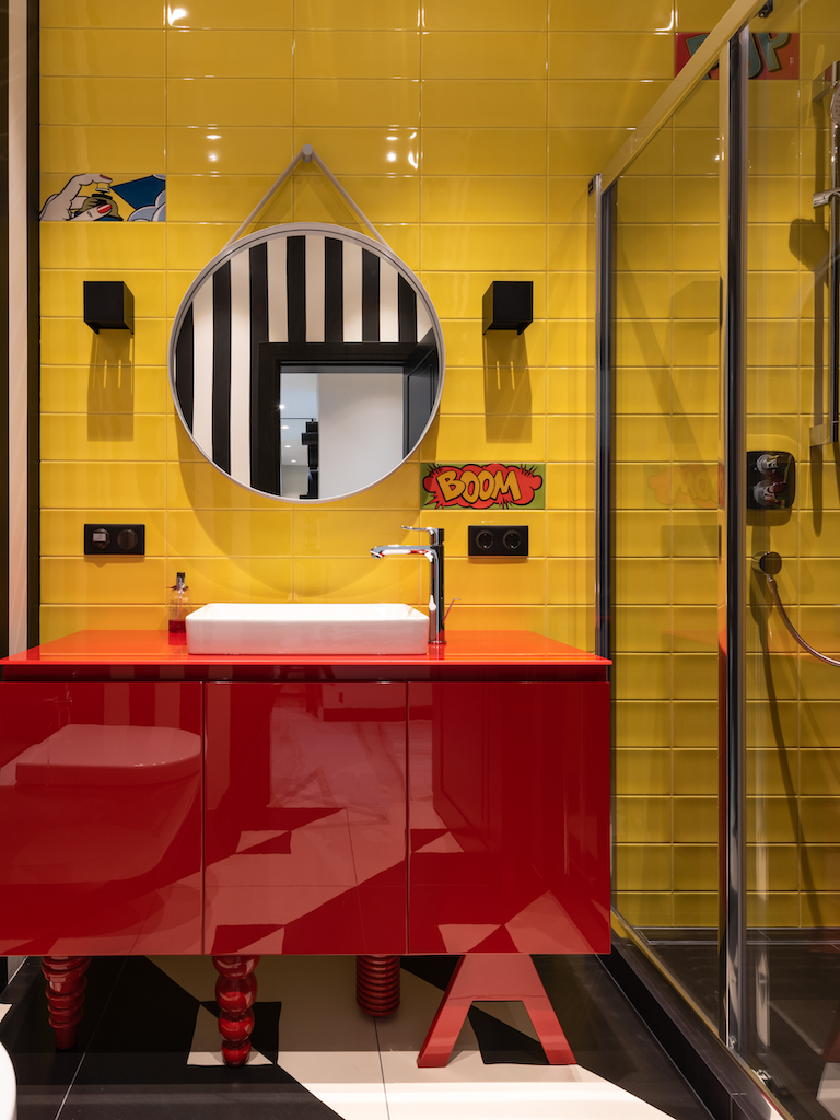 Colorful modern bathroom